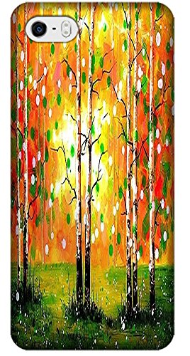 TACTY Abstract Oil Painting Trees Colorful Cases / Covers Hard TPU Protect Back For iPhone 5C Multi-Color 4