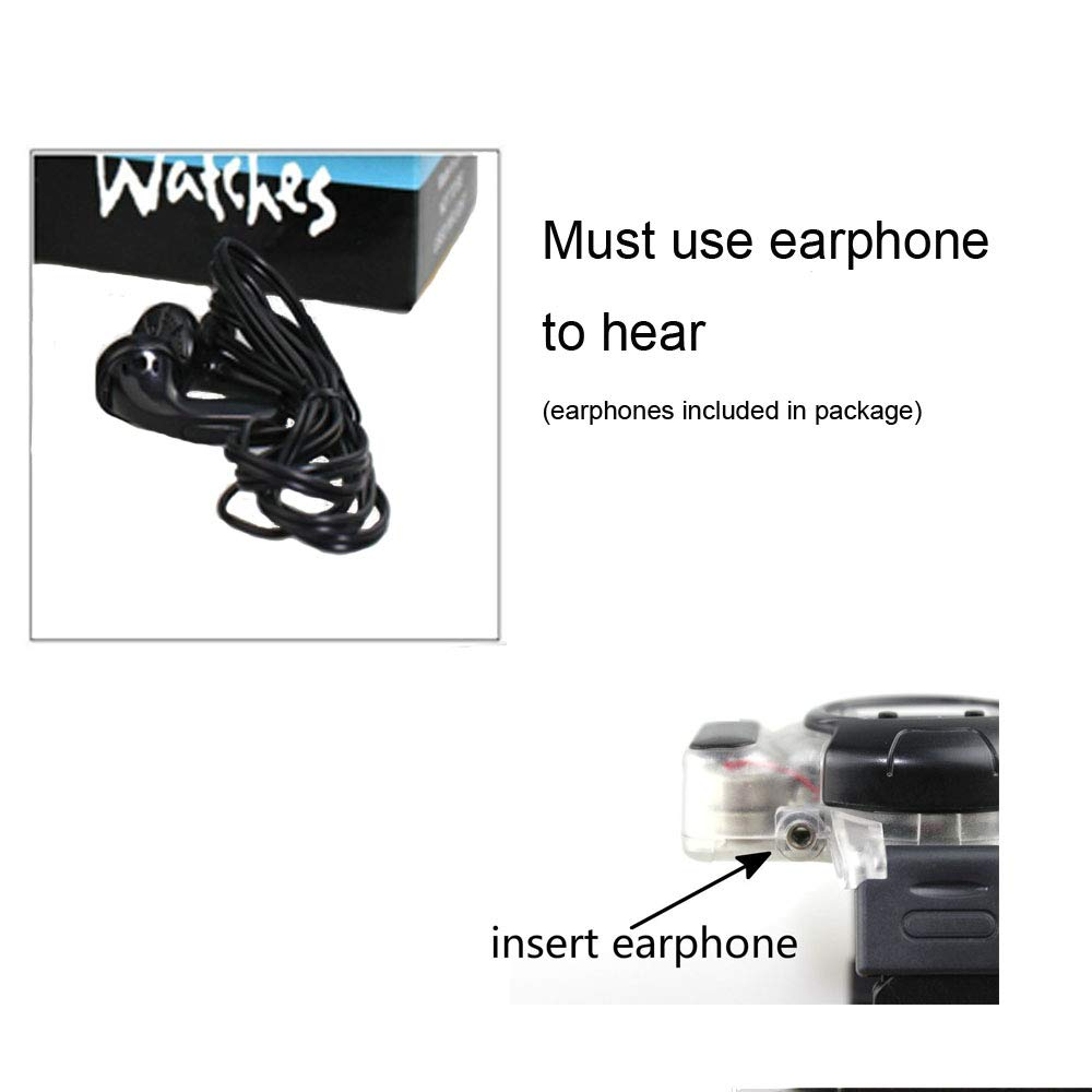 Emovendo Walkie Talkie 150m Long Range Multi-Connection Talk by Earphone for Clear Sound,Radio Watch for Boys and Girls Scouts, Outdoor Toys for Kids Children, Black (2 Packs) by Emovendo (Image #5)
