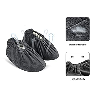 NKTM Non-Slip Washable Reusable Shoe Covers - breathable and elastic