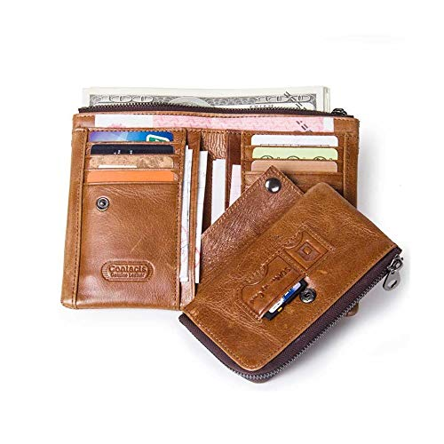 Fois monnaie Mode En Classique Poche Canxiu cartes Portefeuilles 3 Portefeuille Porte Hommes Fermeture Éclair Avec Cuir Pour 8 Porte À H8Bqndxt