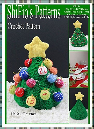 Crochet pattern - CP294 - Christmas Tree, Advent Calendar, Table Decoration - 2 Sizes - USA termminology