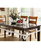 Yellow Weaves Dining Table Cover Waterproof Transparent 6 Seater 60X90 Inches