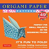""": Origami Paper - Patterns - Small 6 3/4"""" - 49 Sheets: Tuttle Origami Paper: High-Quality Origami Sheets Printed with 8 Different Designs: Instructions for 6 Projects Included (Origami Paper Packs)"""