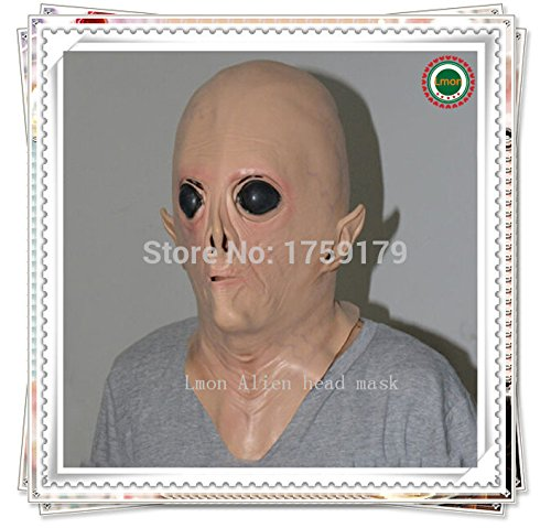[2015 - Hot selling Halloween Costumes UFO Alien Head Mask The Extra Terrestrial ET Mask for Men Face] (Extra Head Costume)
