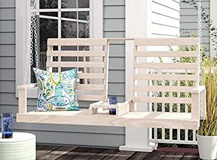 Remarkable Amazon Com Outdoor Bench Swing Outdoor Swing Canopy Oak Gmtry Best Dining Table And Chair Ideas Images Gmtryco