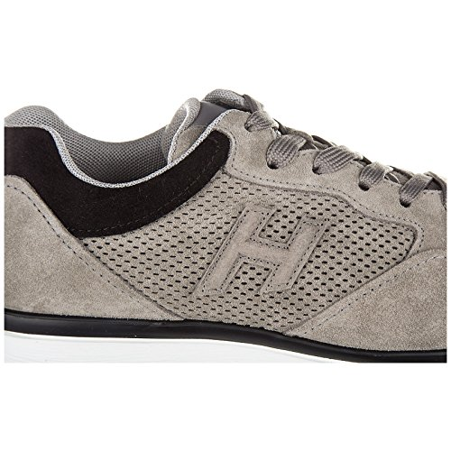 Men's forato Shoes Sneakers h3d Grey Hogan Trainers Suede d7SWUdqY