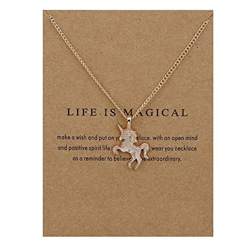Life is Magical Dainty Unicorn Necklace Generic