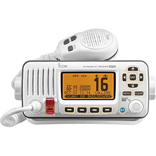 Nmea Wireless Interface (ICOM IC-M324G 22 Marine VHF Radio, with GPS, in White)