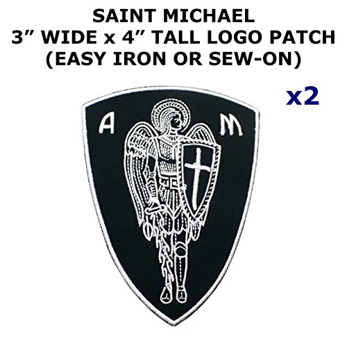 2 PCS Saint Michael Tactical Theme DIY Iron / Sew-on Decorative Applique Patches - Mario Girl Costume Diy