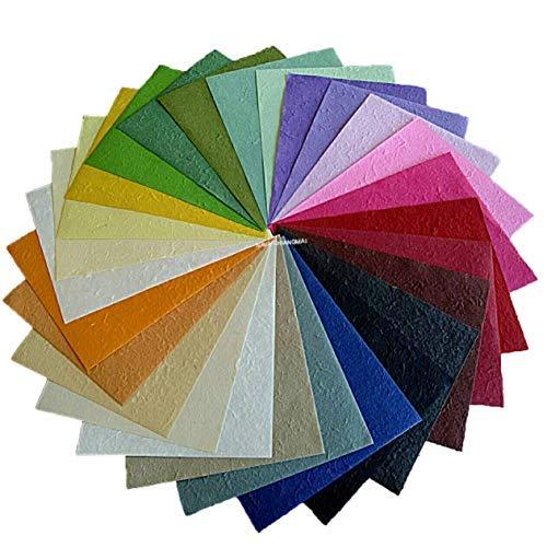 NAVA CHIANGMAI 27 Pcs Thick Mulberry Paper Scrapbooking Parchment Cardstock Decorating Ideas Scrapbook Paper Craft Supplies Interior Design Multicolored ()