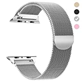 yamen for Apple Watch Band 42mm Milanese Loop for iwatch Band Series 2 Series 3 Silver