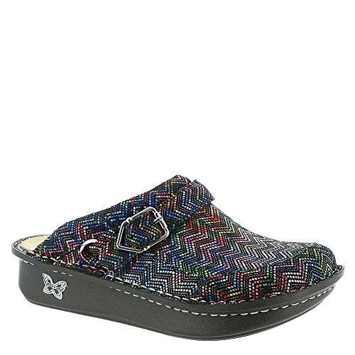 Alegria Women's Seville Ric Rack Rainbow Clog Shoe (SEV-453) Size: Euro 38 \ US 8-8.5, Width: Medium