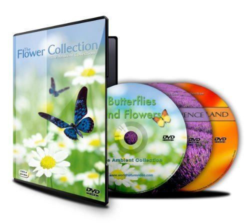 Relaxation DVDs -The Flower Collection - 3 DVDs-With Nature Sounds