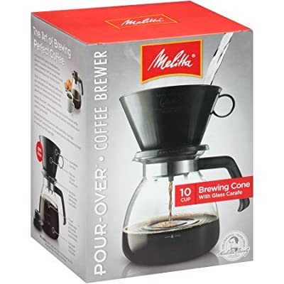 Pour-Over Brewer 10 Cup Coffee Maker with Glass Carafe Box