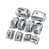 used harley parts - Chrome Hand Control Switch Housing Caps For Harley-Davidson Electra Street Glide 1996-2013