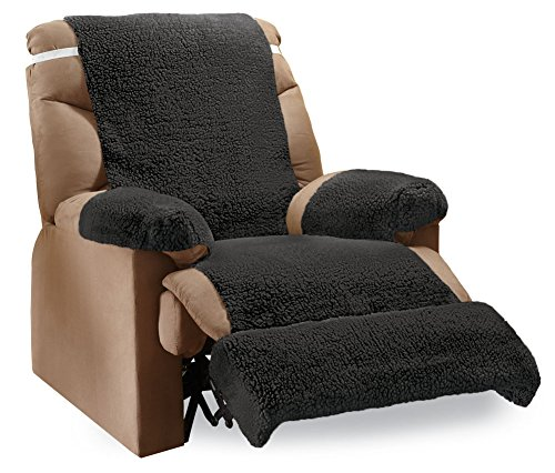 recliner fleece furniture covers 4 piece set black black furniture covers