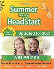 Summer Learning HeadStart, Grade 5 to 6: Fun Activities Plus Math, Reading, and Language Workbooks: Bridge to Success with Common Core Aligned Resources and Workbooks