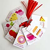 Perfect Pair Valentine's Day Gift Tags - Food and Drink Valentine Love Sayings Tags - Set of 24