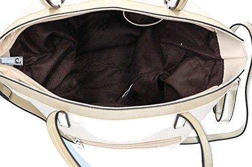 Borsa donna a spalla con tracolla PIERRE CARDIN beige con apertura zip VN1885