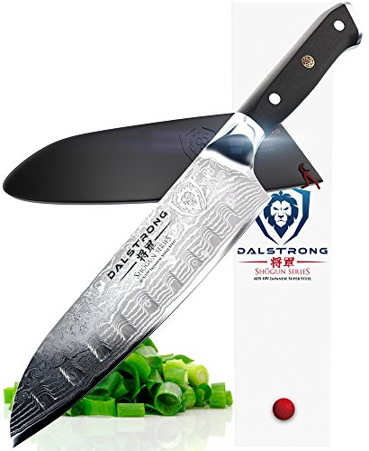 "DALSTRONG Santoku Knife - Shogun Series - AUS-10V Japanese Steel 67 Layers - Vacuum Treated - 7"" (180mm)"