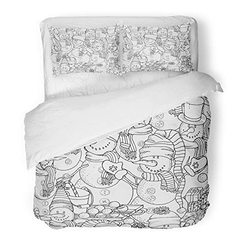 Emvency Decor Duvet Cover Set Twin Size Cheerful