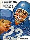 San Francisco 49ers vs Minnesota Vikings Football Program (November 26, 1961) ** Kezar Stadium San Francisco**