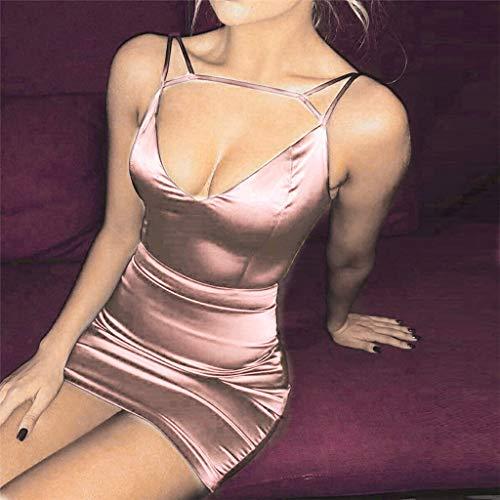Fashion Short donnaElegante Vpass Pink Sexys Abiti Slim Fit Party da Abito Club cocktail da Night TcJKl13F