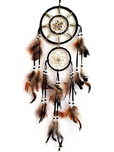 Handmade Dream Catcher with Feathers Wall Hanging Home Decor Ornament ( With Betterdecor Gift Bag)