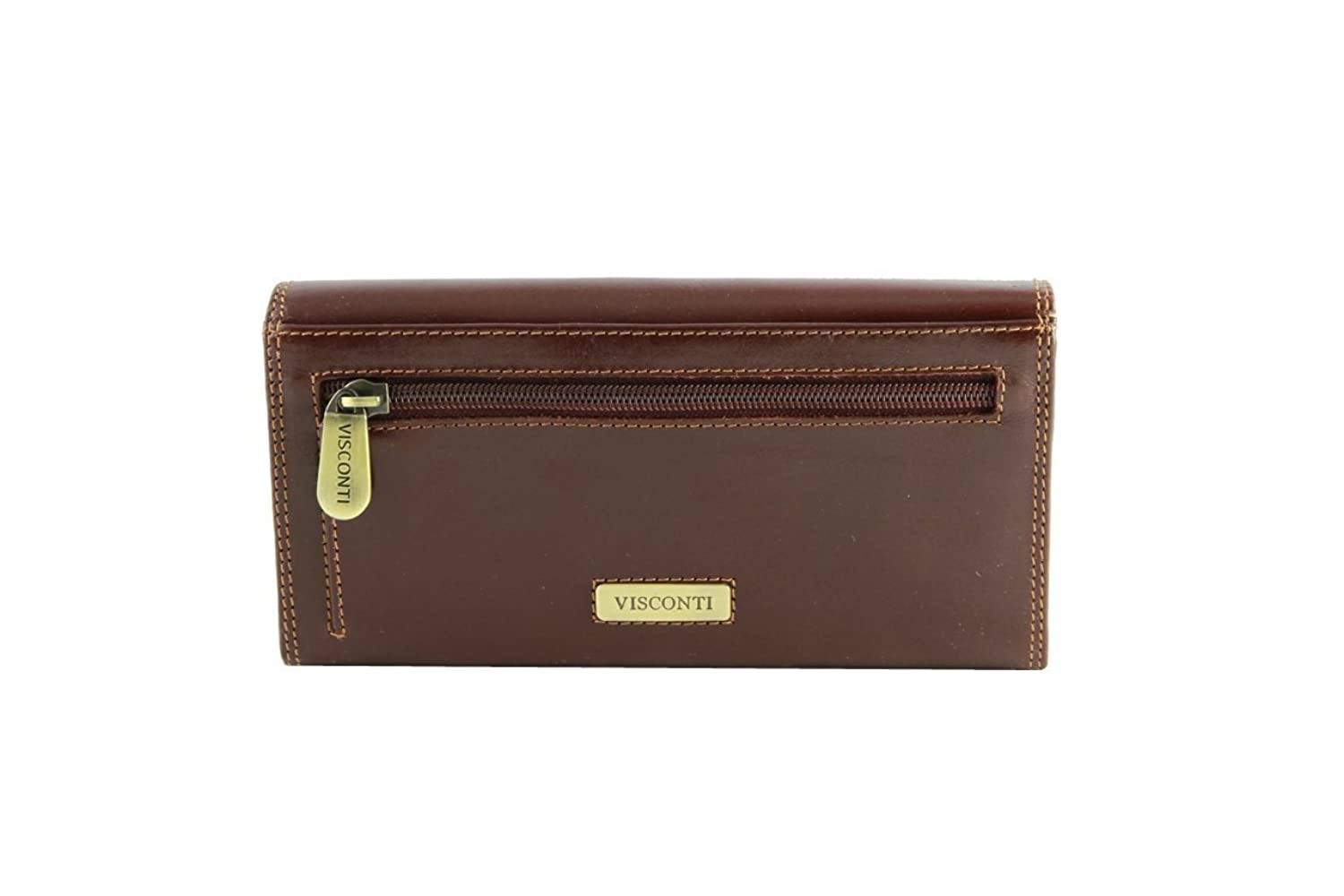 Visconti Monza 10 Ladies Large Soft Leather Checkbook Wallet / Purse
