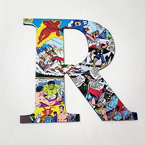Avengers, wall letters, nursery letters, wooden letters, custom letters, superhero decor, avengers, comics, kids names, kids - Letters Wall Whimsical