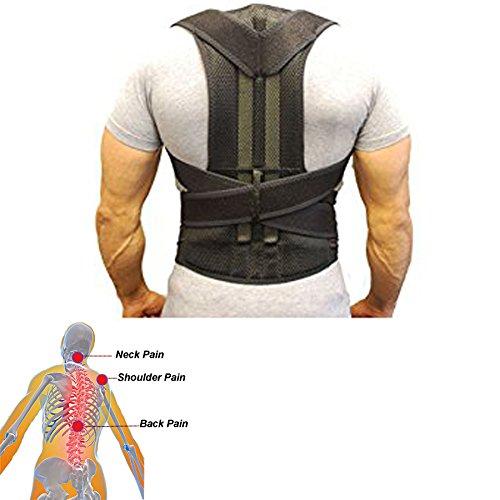 Back Support Belt- Posture Corrector for Men and Women- Adjustable Back Brace Strap Breathable Mesh- Back Pain Relief (XL)