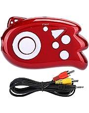 Gamepad, Game Console, Mini Handheld Gamepad, Ingebouwde 89 Classic Games Gaming Controller, voor Monitor TV, met zaklamp(rood)