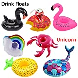 WSXUS Inflatable Drink Holders , 8 Packs Drink Floats Inflatable Cup Coasters for Pool Party and Kids Bath Toys , Party Supplies Pool Beach Shower Spa Festival Holiday Vacation Birthday Fun Gift