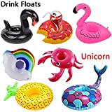 WSXUS Inflatable Drink Holders , 8 Packs Drink Floats , Inflatable Cup Coasters for Pool Party and Kids Bath Toys , Party Supplies Beach Shower Spa Festival Holiday Vacation Birthday Fun Gift