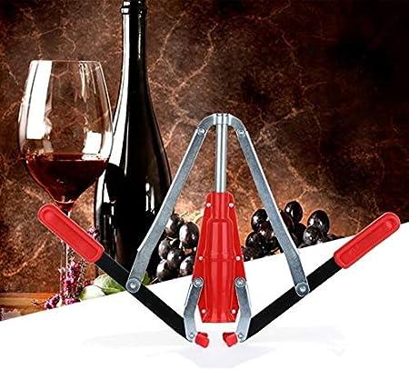 Home Brew Kit con 2 mangos de corcho para elaboración de vinos caseros con doble palanca, sacacorchos para botellas de vino (color: rojo)