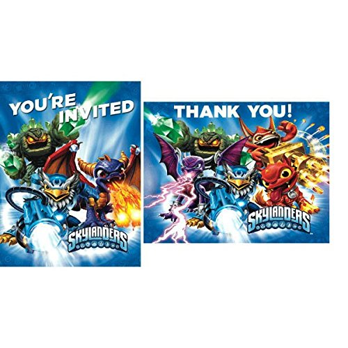 American Greetings Skylanders Invite and Thank You Combo Pack (8-Count)