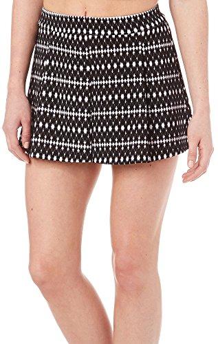 $44 Womens New 1719 Black Houndstooth Micro Mini Skirt S B+B