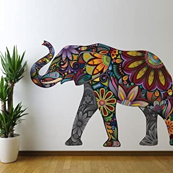 My wonderful walls elegant elephant wall sticker large and left facing