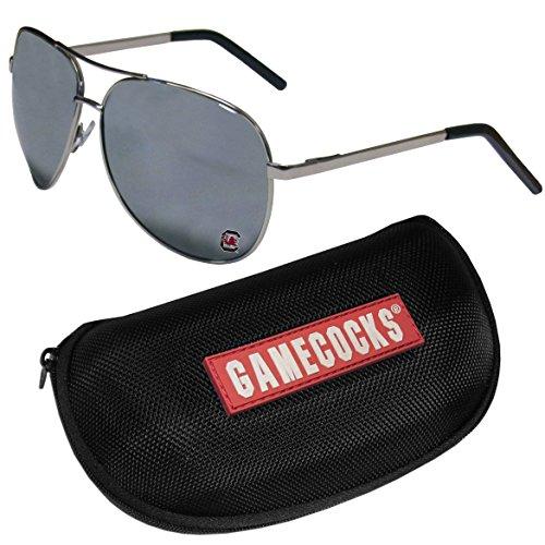 NCAA South Carolina Fighting Gamecocks Aviator Sunglasses & Zippered Carrying Case (University Of South Carolina Game Day Outfits)
