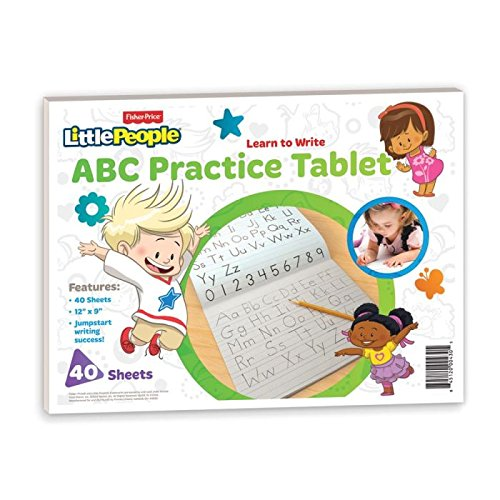 fisher price abc practice tablet 12 x 9 inches 40 sheets with practice guide 430