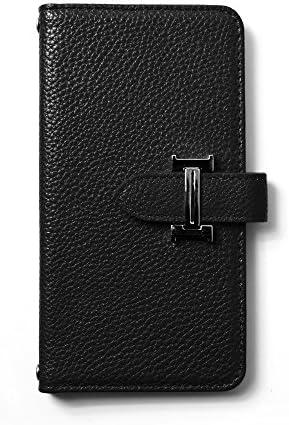 Qua phone PX LGV33 イタリアン カード収納付き PU手帳 レザー調 手帳型 マグネット金具 レザーブラック スマホケース スマホカバー スマートフォンケース lgv33-ki0007-b