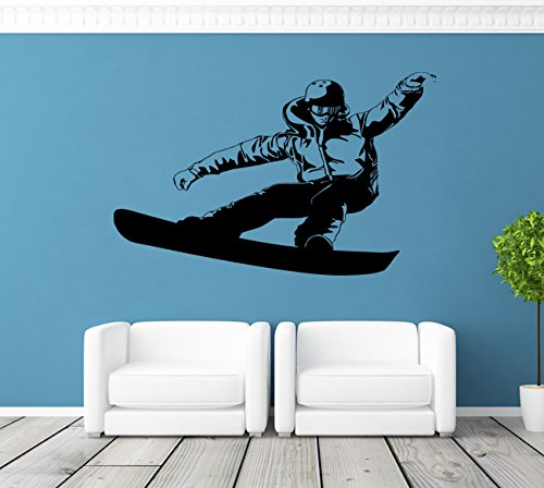 Ik126 Wall Decal Sticker Room Decor Art Mural Freestyle Snowboard Board Snow Mountain Bedroom Room Children