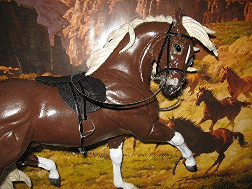 (Breyer Peter Stone Johnny West horse custom english saddle and bridle set)