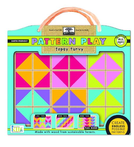 (green start pattern play wooden puzzles: topsy turvy (mix and match mosiac puzzles))