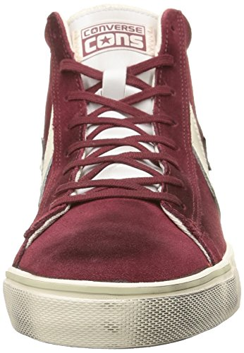 Leather Dark Converse lth unisex Vulc Mid White Suede Pro Adulto Maroon Sneaker off 5qqzr1