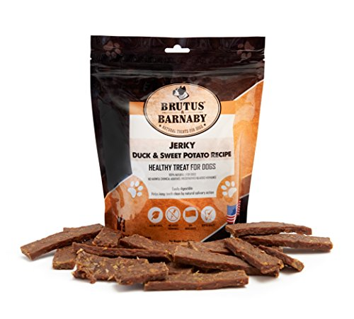USA Duck and Sweet Potato Jerky, Grain Free with No Added Hormones, Our Moist Treats are High In Iron, Fiber and Vitamin's, Great as Training Rewards (12oz)