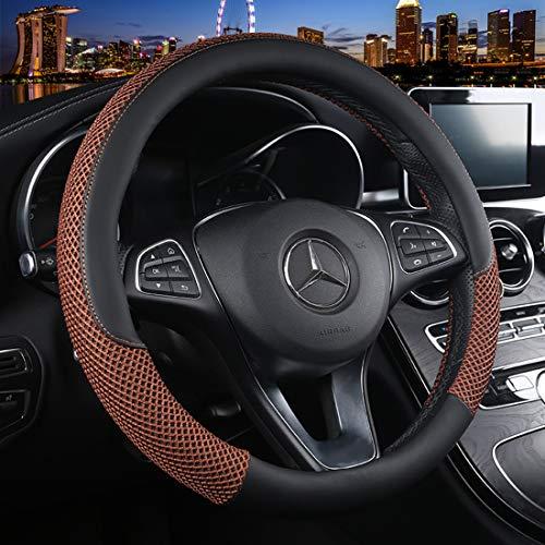 Cxtiy Universal Car Steering Wheel Cover Fluffy Winter Plush Steering Wheel Cover (C-Coffee) Brown Steering Wheel Cover