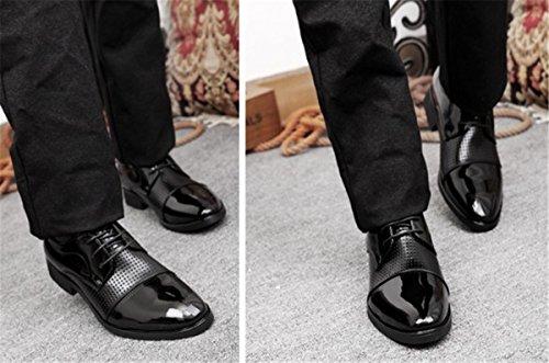 Bininbox Heren Moderne Oxford Wing Tip Fashion Sneaker Casual Kleding Schoenen Business Zwart