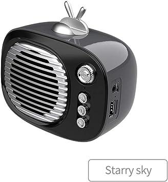 HBINGBING Altavoz Bluetooth Estilo de Radio Retro Mini portátil inalámbrico Bluetooth Altavoz con FM TF Modo AUX Soporte para teléfono: Amazon.es: Electrónica