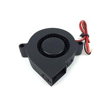UEETEK Ventilador DC 12V para impresora 3D, ventilador de turbina ...